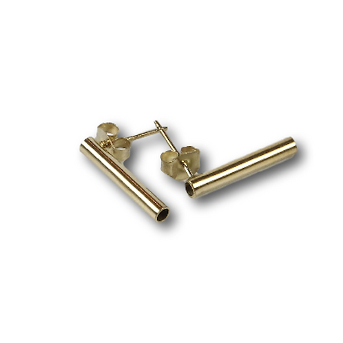 Gold Tube Studs