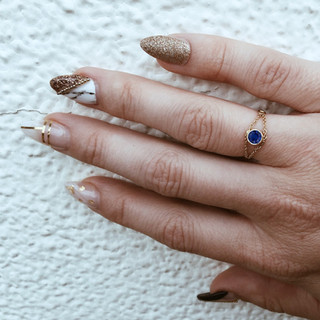 blue sapphire veza ring