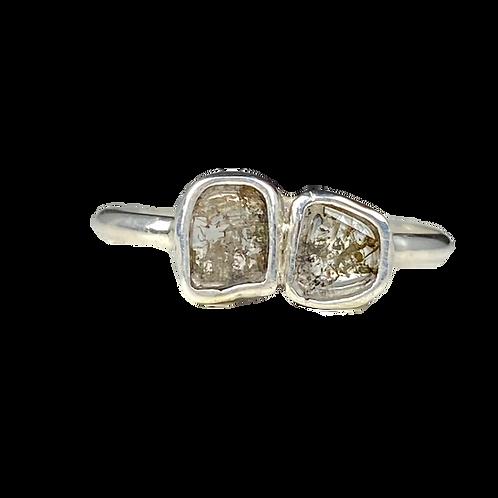 Double diamond slice ring