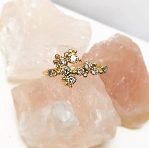 diamond coral ring