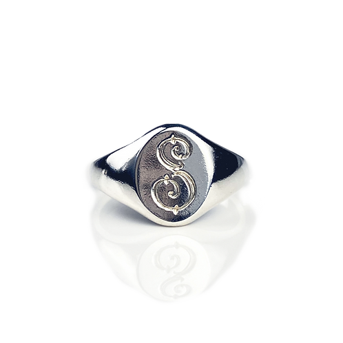Vertical Oval Signet Ring