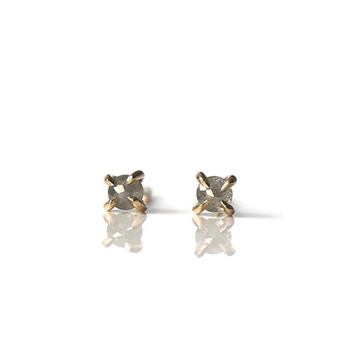 Mini Rose Cut Diamond Studs