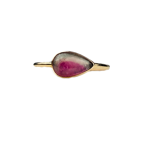 Watermelon Tourmaline Horizon Ring