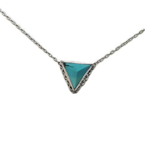 Turquoise Veza Triangle Necklace
