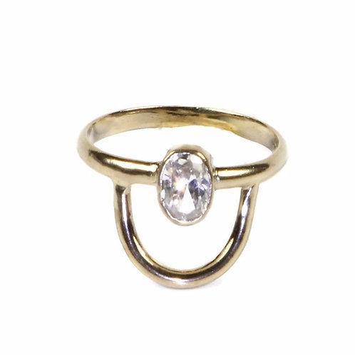 Crescent Stone Ring