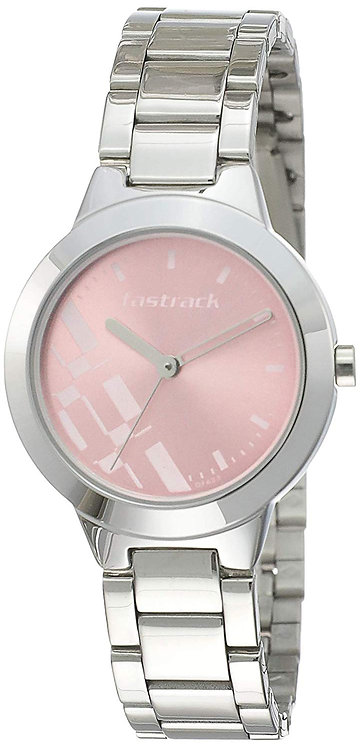 Fastrack Analog Dial Women's Watch (Pink, 6150SM04)