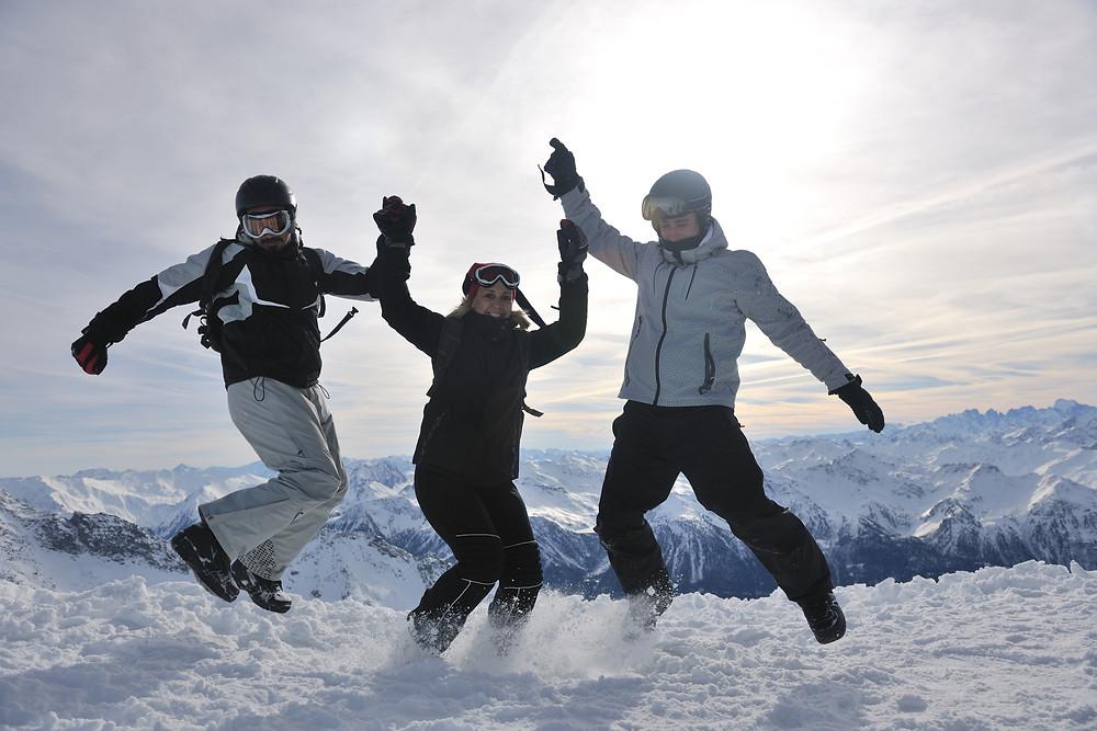 Apres ski on top of mountain