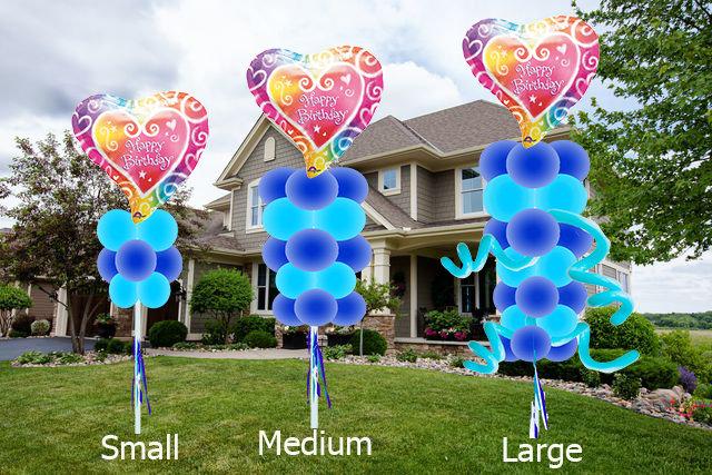 Balloon Yard Art Happy Birthday Theme (Starting at 35$)