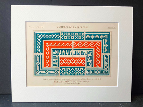 Antique Embroidery Pattern: Geometric