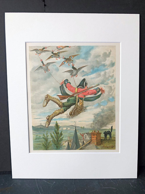 Baron Munchausen Above the Roof Tops