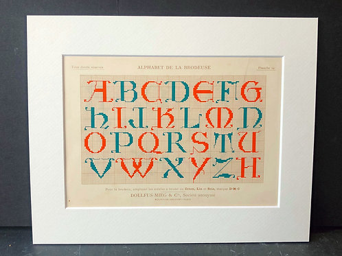 Antique Embroidery Pattern: Alphabet II