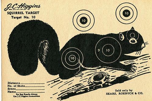 Vintage Shooting Target/Squirrel