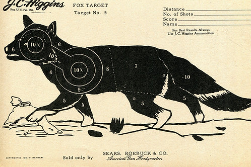 Vintage Shooting Target Fox II
