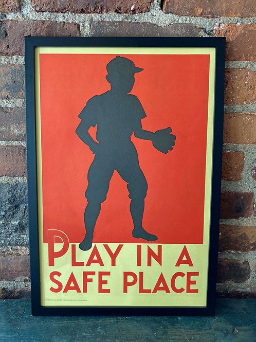 Vintage School Poster: Play In A Safe Place/ Thanksgiving