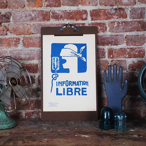 Atelier Populaire Poster Print: Information Free
