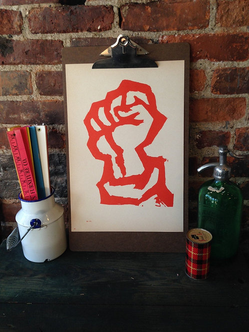 Atelier Populaire Poster Print: Red Fist and Fascism