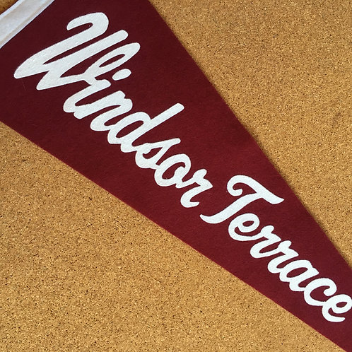 Windsor Terrace Pennant Vintage Style Custom Designed