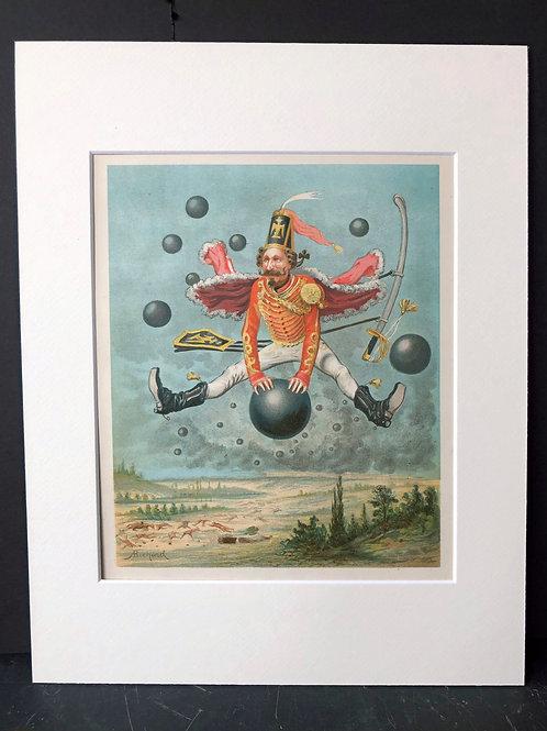 Baron Munchausen Riding a Cannon Ball