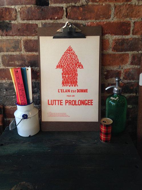 Atelier Populaire Poster Print: La Lutte Prolongee