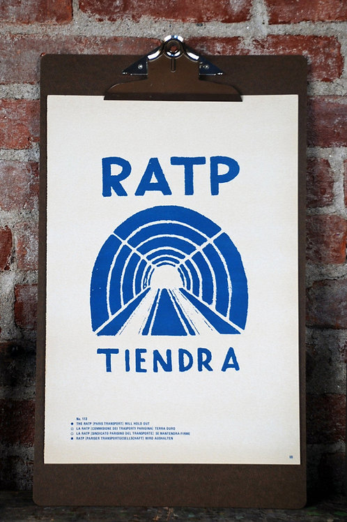 Atelier Populaire Poster Print: RATP