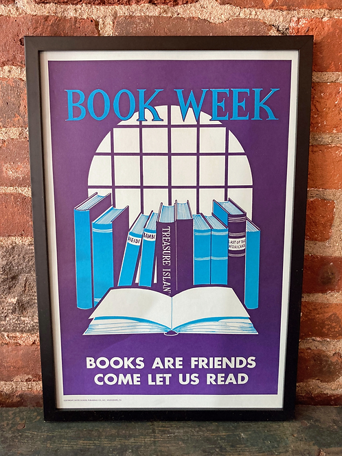 Vintage School Poster: Book Week/ Washington's Birthday