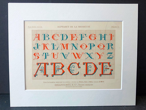 Antique Embroidery Pattern: Alphabet I