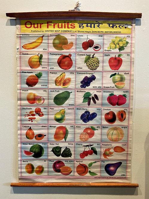 Vintage Fruit Chart