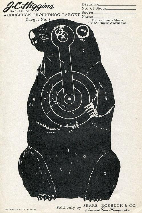 Vintage Shooting Target/Groundhog