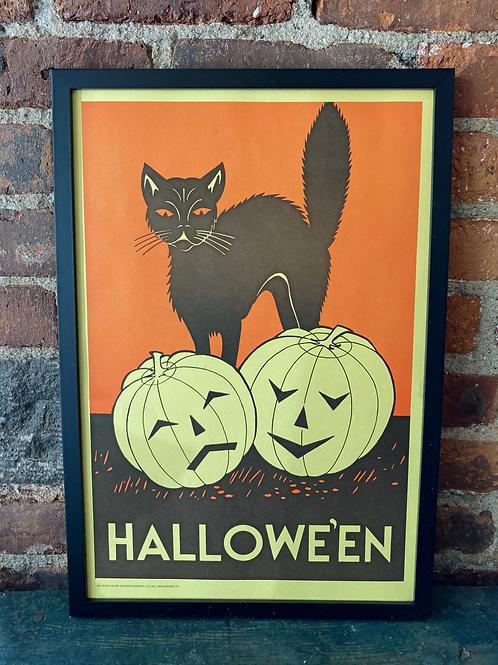Vintage School Poster: Halloween/ Eat A Hearty Breakfast
