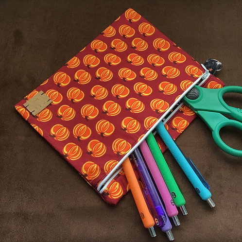 Pumpkin Large Zipper Pouch