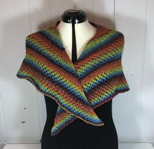 Knitted Rainbow Shawl