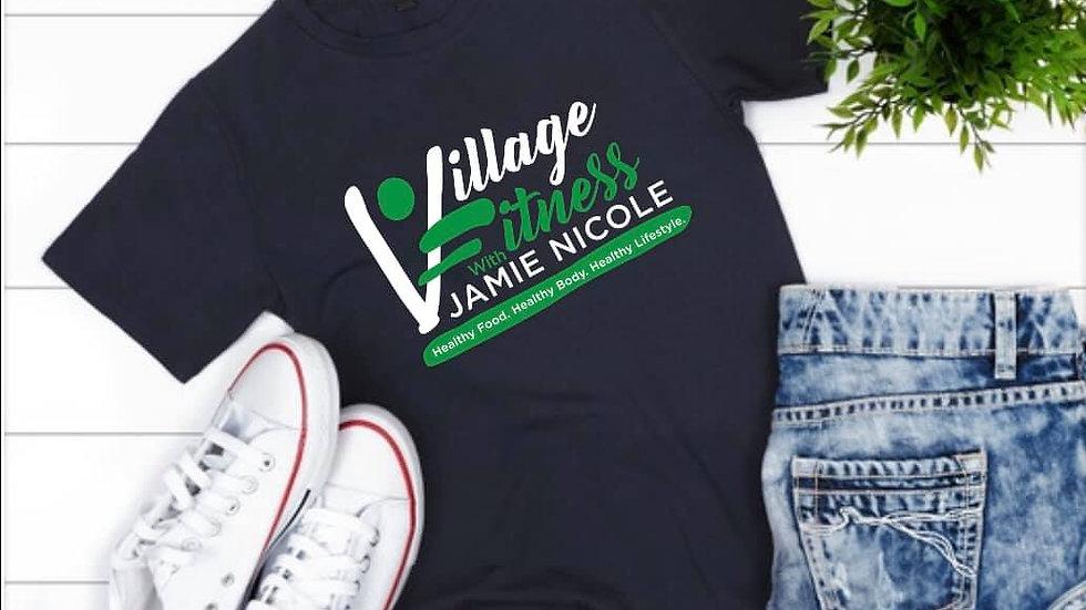 Village Fitness Black Logo Tee