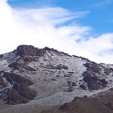 Spring snow over the hills (Arkhangai, M