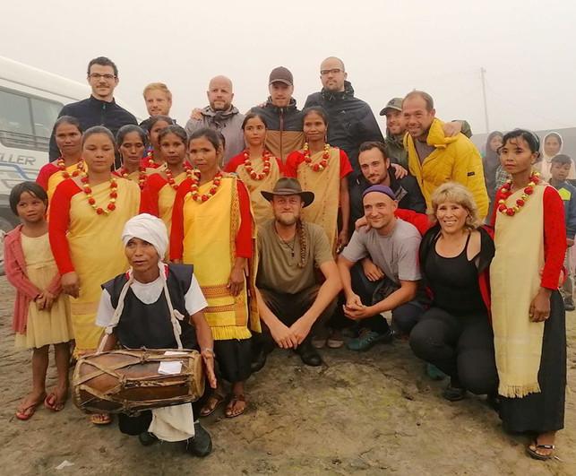 With the Khasi dancers.jpg