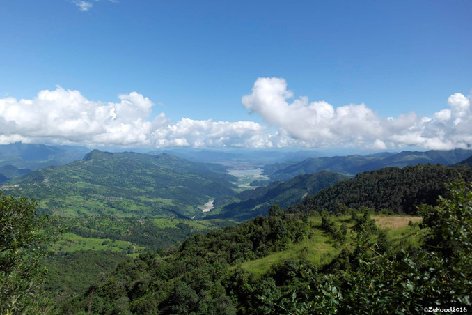 Pokhara valley and Phewa lake from the P