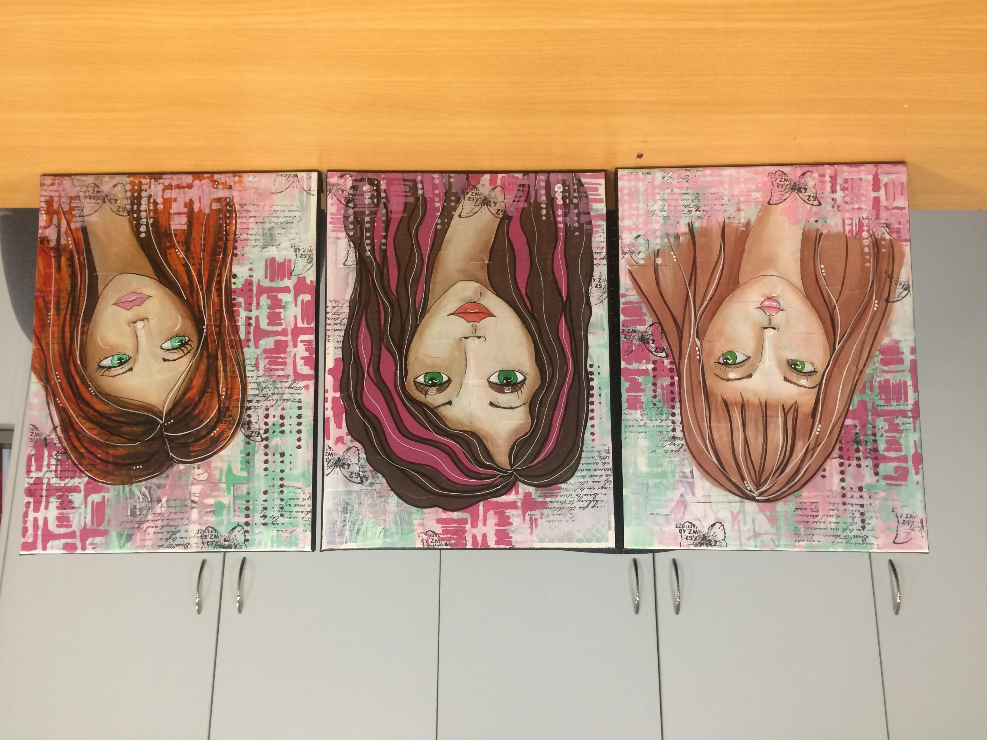 Triptych girls