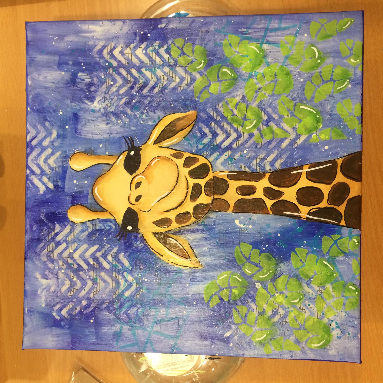 Giraffe Canvas for Danni