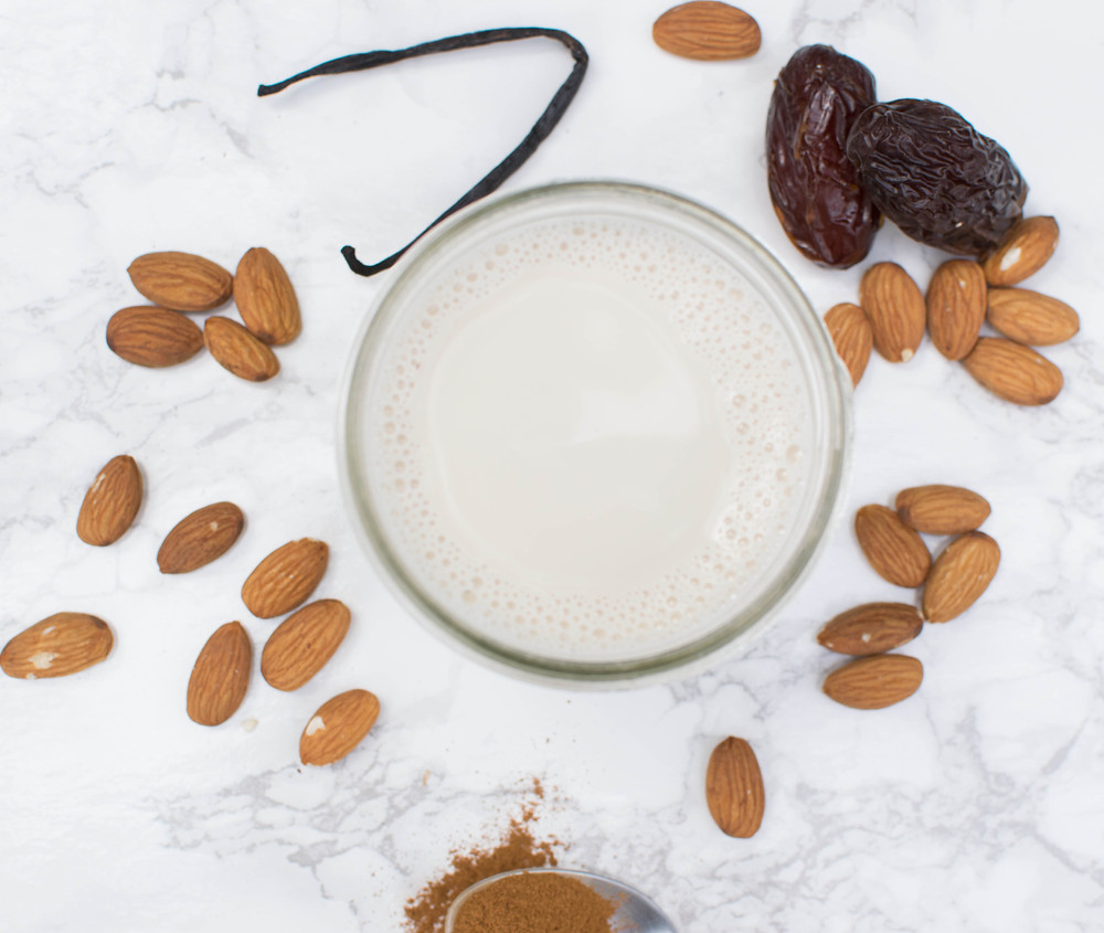 Homemade almond milk by Krista Blanco