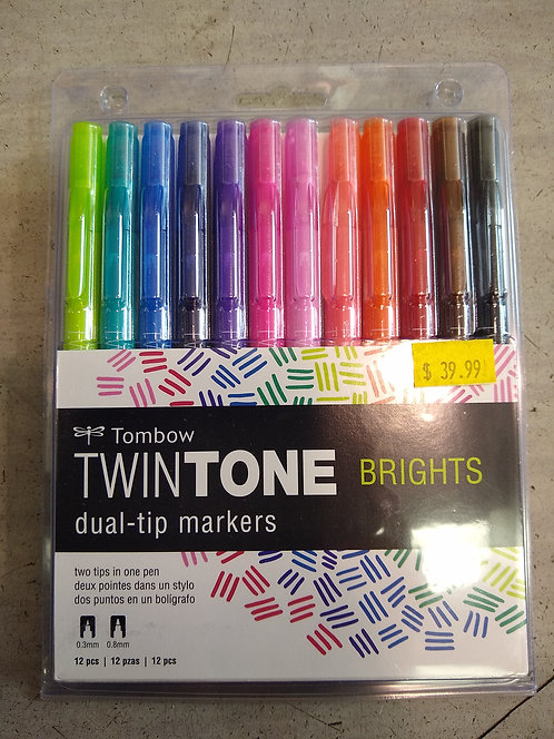 Twintone Brights Dual-Tip Markers
