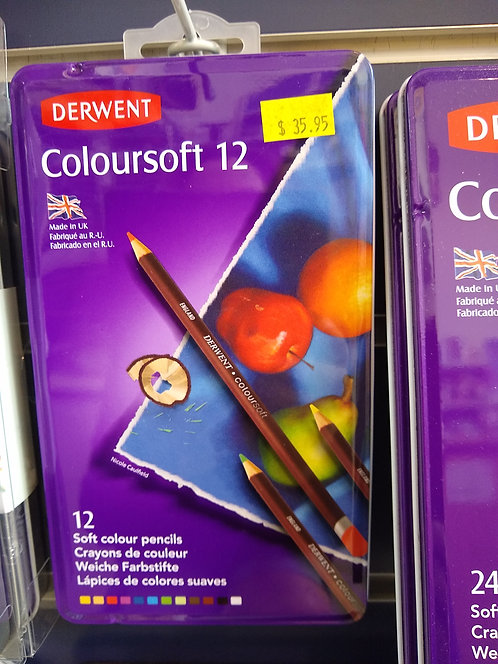 Derwent Coloursoft 12 Pencils