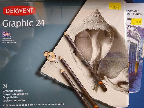 Derwent Graphic 24 Pencils