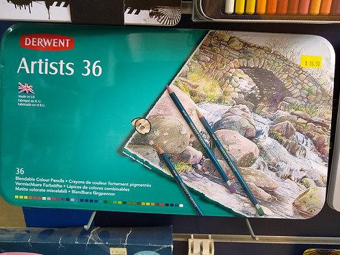 Derwent Artists 36 Pencils