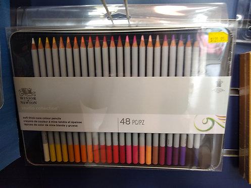 Winsor & Newton 48 Colour Pencil Set
