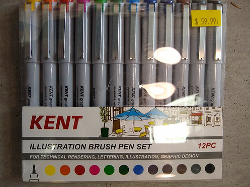 Kent 12 Illustration Brush Pen Set