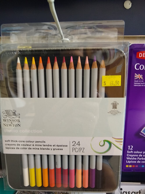 Winsor & Newton 24 Colour Pencil Set