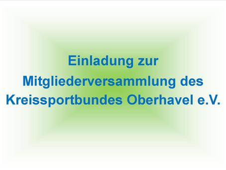 Mitgliederversammlung des Kreissportbundes Oberhavel e.V.