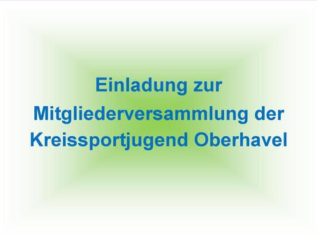 Mitgliederversammlung Kreissportjugend Oberhavel