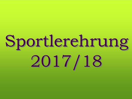 Sportlerehrung 2017/2018