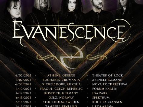 EVANESCENCE ANNOUNCE EUROPEAN TOUR FOR JUNE 2022