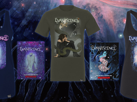 EVANESCENCE RELEASE NEW 'ECHOES FROM THE VOID' MERCH